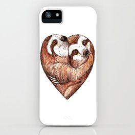 sloth love iPhone Case