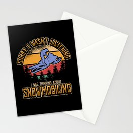 Snowmobile Snow Winter Sports Funny Gift Stationery Cards