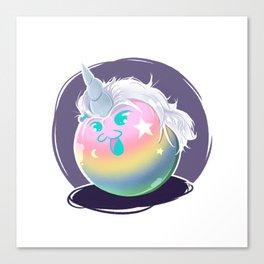 Rainbow Unicorn Yato Dango Canvas Print