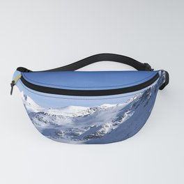 Blue and white beauty of the mountains Fanny Pack