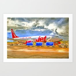 Pop Art Airliner Art Print