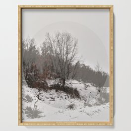 WINTER SERIES Snowy forest fading Serving Tray