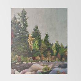 Upstate New York Gorges Throw Blanket