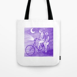 Tranquil Bike Couple Tote Bag