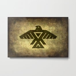 Symbol of the Anishinaabe, Ojibwe (Chippewa) on  parchment Metal Print