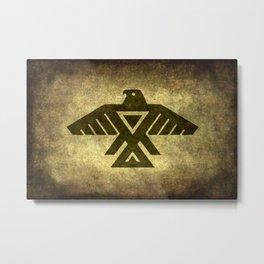 Symbol of the Anishinaabe, Ojibwe (Chippewa) on  parchment Metal Print