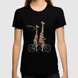 giraffe days lets tandem T-shirt
