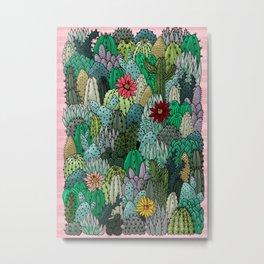 Cactus Collection Metal Print