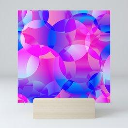 Violet and blue soap bubbles. Mini Art Print