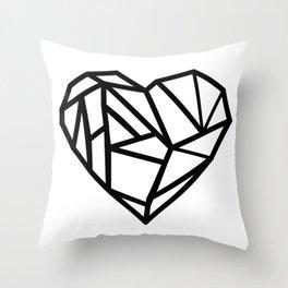 black heart love Throw Pillow