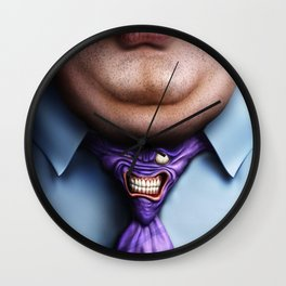 Man Fat and Tie Wall Clock