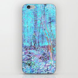 Van Gogh Trees & Underwood Aqua Lavender iPhone Skin