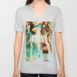 """Olympic Moments, (Micheal) Unisex V-Neck"