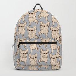 Cream French Bulldog Backpack
