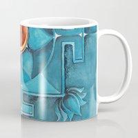 chakra Mugs featuring Lotus Chakra by TheVioletWall