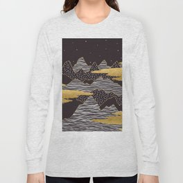 Gold Mountain Peaks Long Sleeve T-shirt