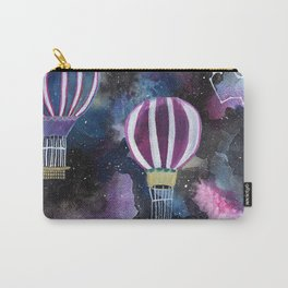 Hot Air Balloon in Galaxy Sky Carry-All Pouch