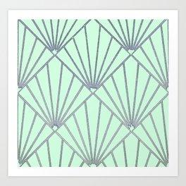 Art Deco Clams Art Print