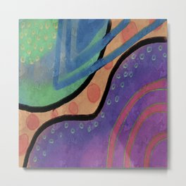 Colorful Absrtact Digital Painting Metal Print