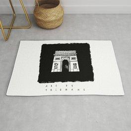 Arc de Triomphe in ink Rug