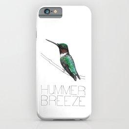 Hummer Breeze (Ruby-throated Hummingbird) iPhone Case