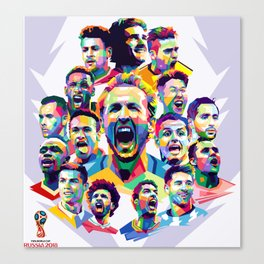 The Stars of World Cup 2018 Canvas Print