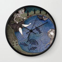 The Fish Pond Wall Clock