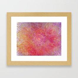 pink blast Framed Art Print