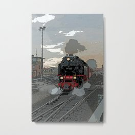Steam locomotive | Dampflokomotive Metal Print