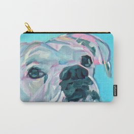 Bella the White Boxer Girl Carry-All Pouch