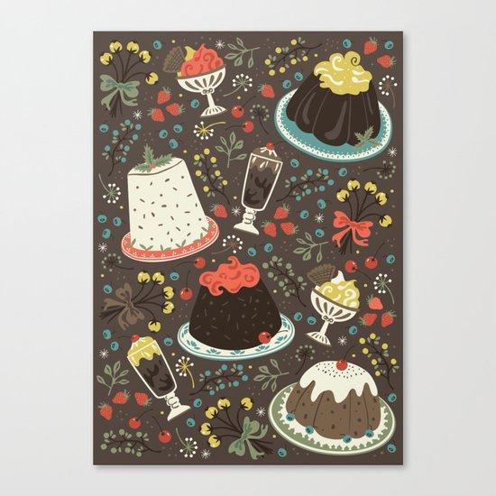Sweet Deserts  Canvas Print