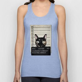 Kitty Mugshot Unisex Tank Top