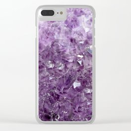 Amethyst Sparks Clear iPhone Case