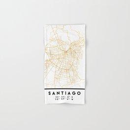 SANTIAGO DE CHILE CITY STREET MAP ART Hand & Bath Towel
