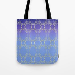 Hand drawn Seed Pods golden yellow blues Tote Bag