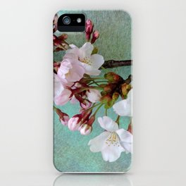 "Cherry blossoms on ""Wa-shi""  -桜に和紙 iPhone Case"