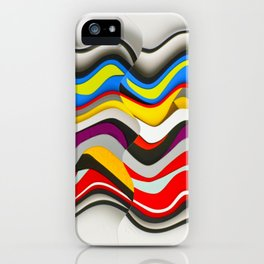 Colored Waves iPhone Case