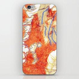 Fibers & lines iPhone Skin