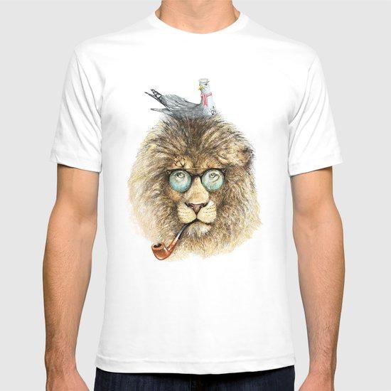 Lion sailor & seagull T-shirt