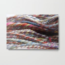 Handspun Yarn / Lots of colors Metal Print