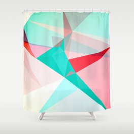 FRACTION - Abstract Graphic Iphone Case Shower Curtain