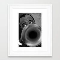 louis armstrong Framed Art Prints featuring Louis Armstrong by Letora Anderson Art