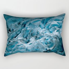 Blue Ice Glacier in Norway - Landscape Photography Rectangular Pillow