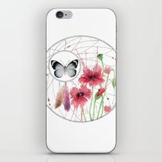 Dreamcatcher No. 2 - Butterfly Illustration iPhone & iPod Skin