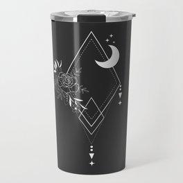 Flowers and Moon 1 Travel Mug