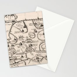 Vintage Map of Rome Italy (1649) Stationery Cards