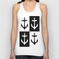 anchors Tank Tops featuring Anchors Aweigh by floridagurl