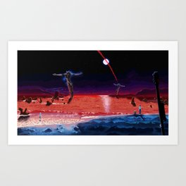 End of Pixelgelion Art Print
