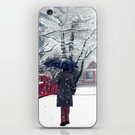 Footprints in Snow iPhone Skin