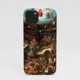 """Hieronymus Bosch """"The Last Judgement"""" triptych (Vienna) central panel iPhone Case"""